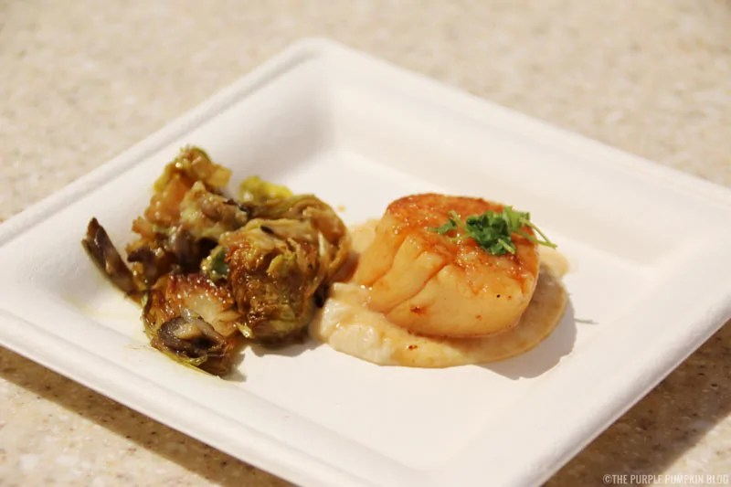 Seared Scallop - Served with Truffled Celery Root Puree, Brussels Sprouts and Wild Mushrooms featuring Melissa's Produce