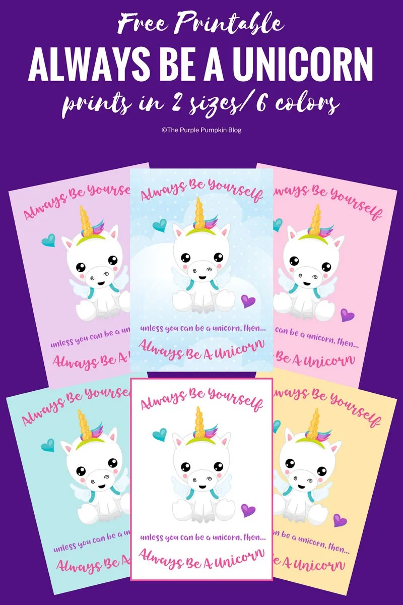 photo about Free Unicorn Printable identify Usually Be A Unicorn - Cost-free Printable