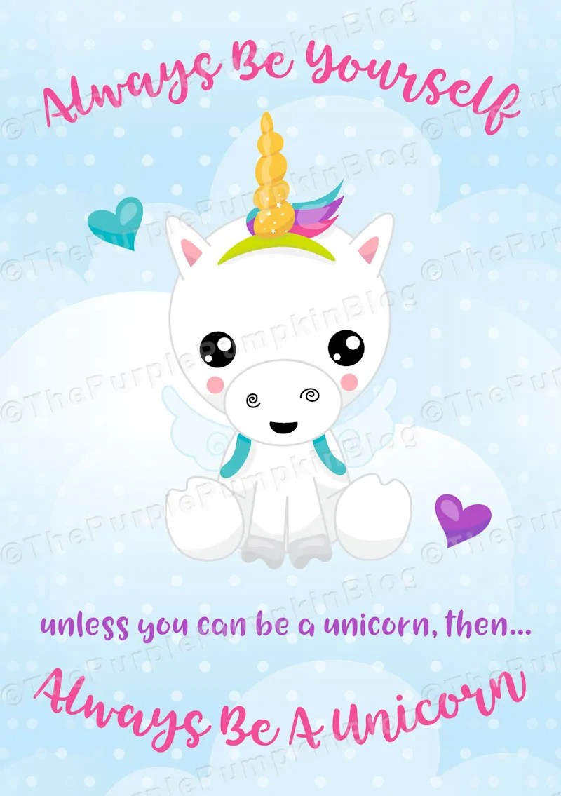 photograph about Free Printable Unicorn titled Usually Be A Unicorn - Free of charge Printable