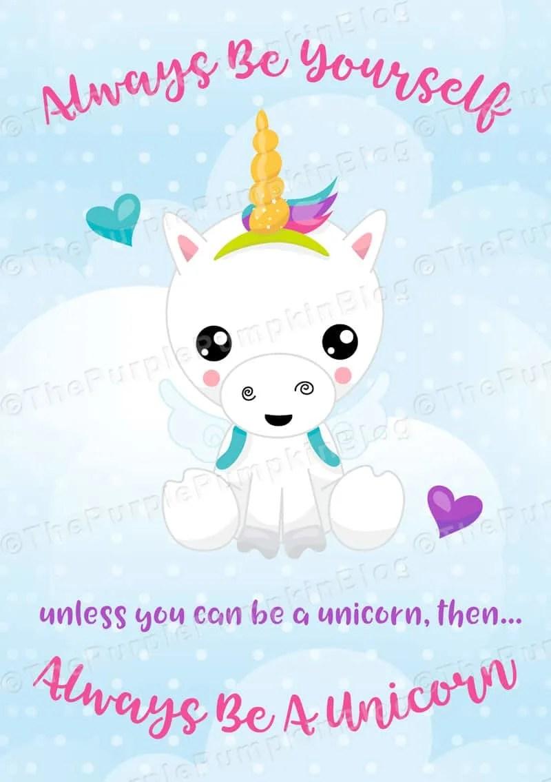 Always Be A Unicorn Free Printable