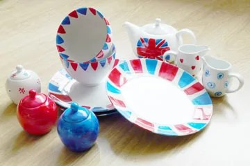 DIY Painted Crockery