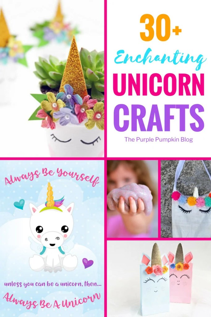 30+ Unicorn Crafts to try at home! Make your life more magical with these cute unicorn inspired crafts. Suitable for crafting skills of all types, and includes sweet makes like party bags, paper crafts, headbands, sensory bottles, and even bath bombs!