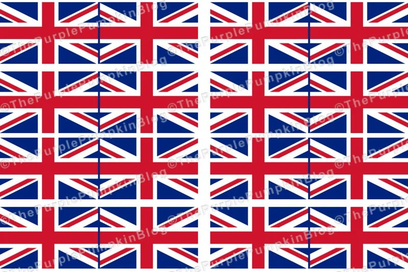 Royal Wedding Cocktail Flags