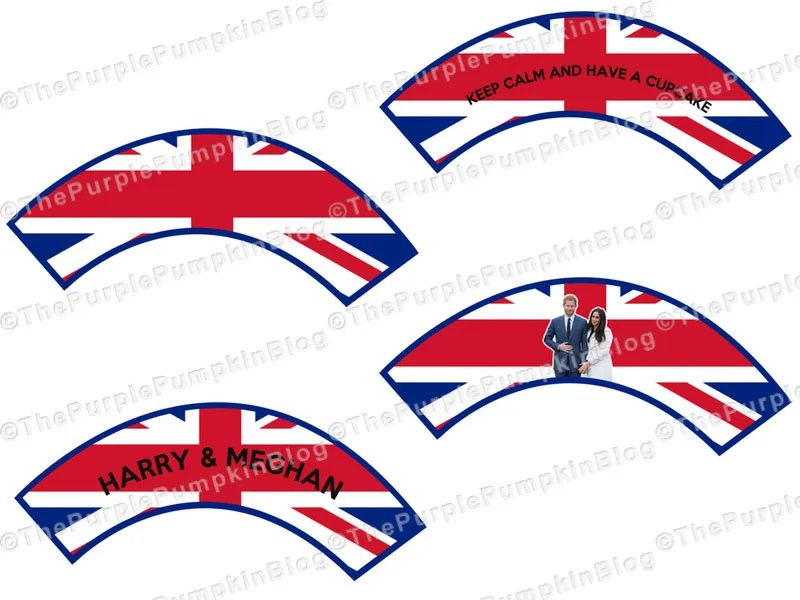 Royal Wedding Cupcake Wrappers