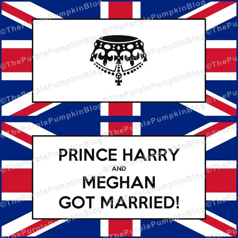 Royal Wedding Favor Bag Labels