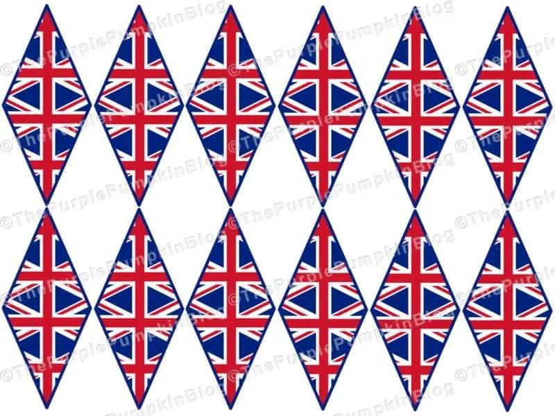 Royal Wedding Mini Flags