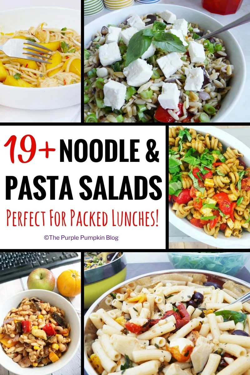 Do you find yourself having the same food for lunch, day in, day out? Stuck for ideas of what to prepare for packed lunches for work? You've hit the right page on the internet as I've got 19+ Noodle & Pasta Salad Recipes that are perfect for packed lunches!