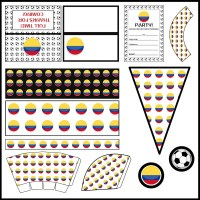Colombia: Football Party Printable Set