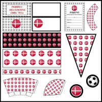Denmark: Football Party Printable Set