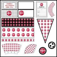Denmark: Football Party Printable Set