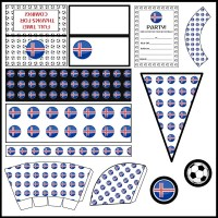 Iceland: Football Party Printable Set