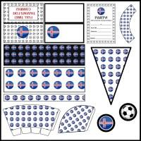 Iceland: Football Party Printable Set