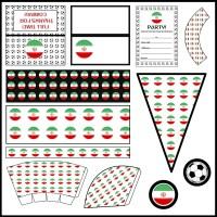 Iran: Football Party Printable Set