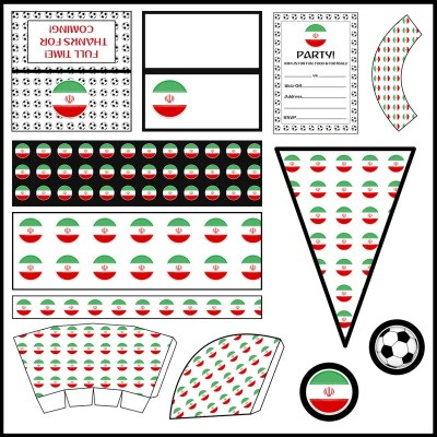 Iran: Football Party Printable Set
