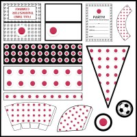 Japan: Football Party Printable Set