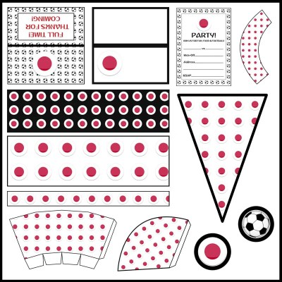 Japan: Football Party Printable Set