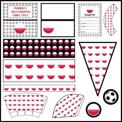 Poland: Football Party Printable Set