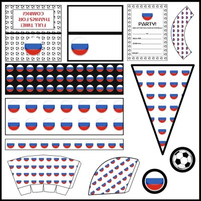 Russia: Football Party Printable Set