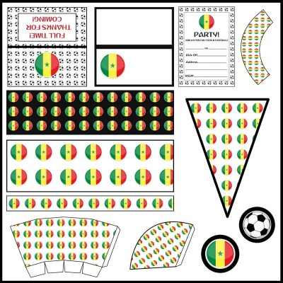 Senegal: Football Party Printable Set