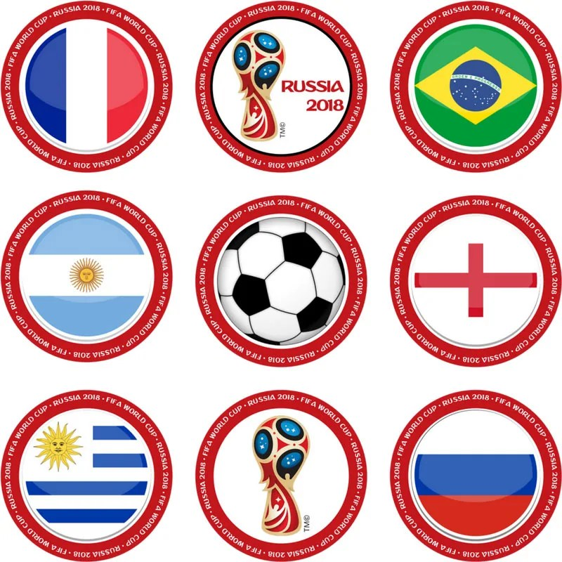 Free Printable World Cup Cupcake Toppers