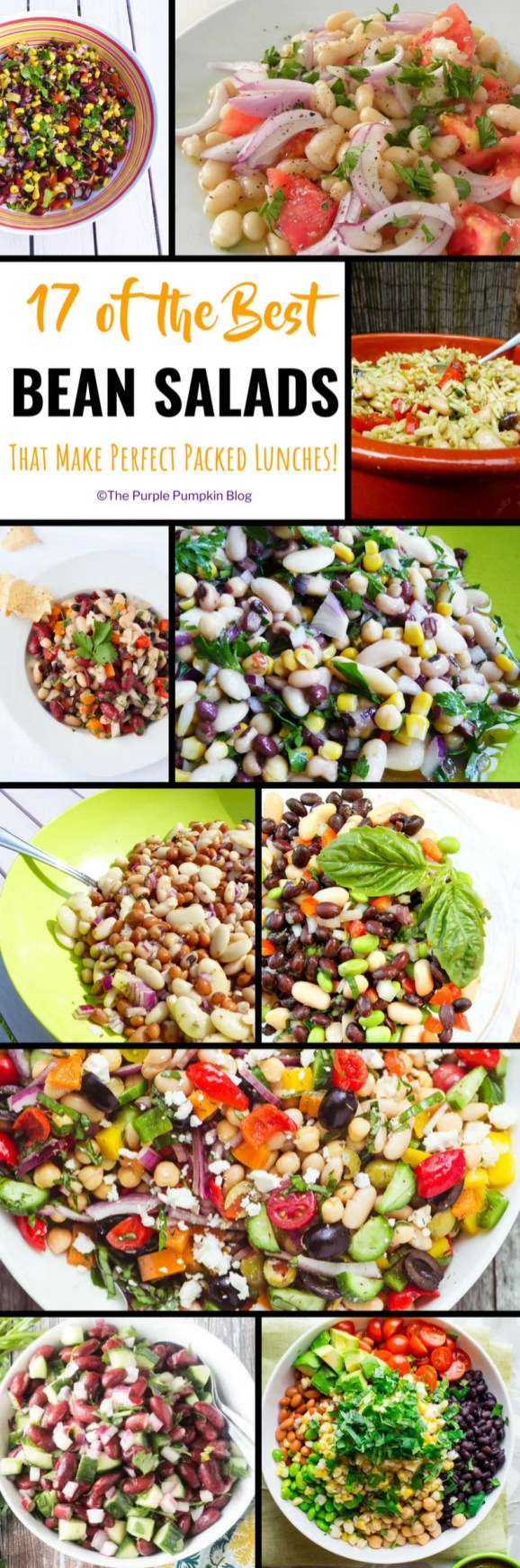 Do you find yourself having the same food for lunch, day in, day out? Stuck for ideas of what to prepare for packed lunches for work? You've hit the right spot on the internet because here are 17 of the best bean salads that are perfect for packed lunches!