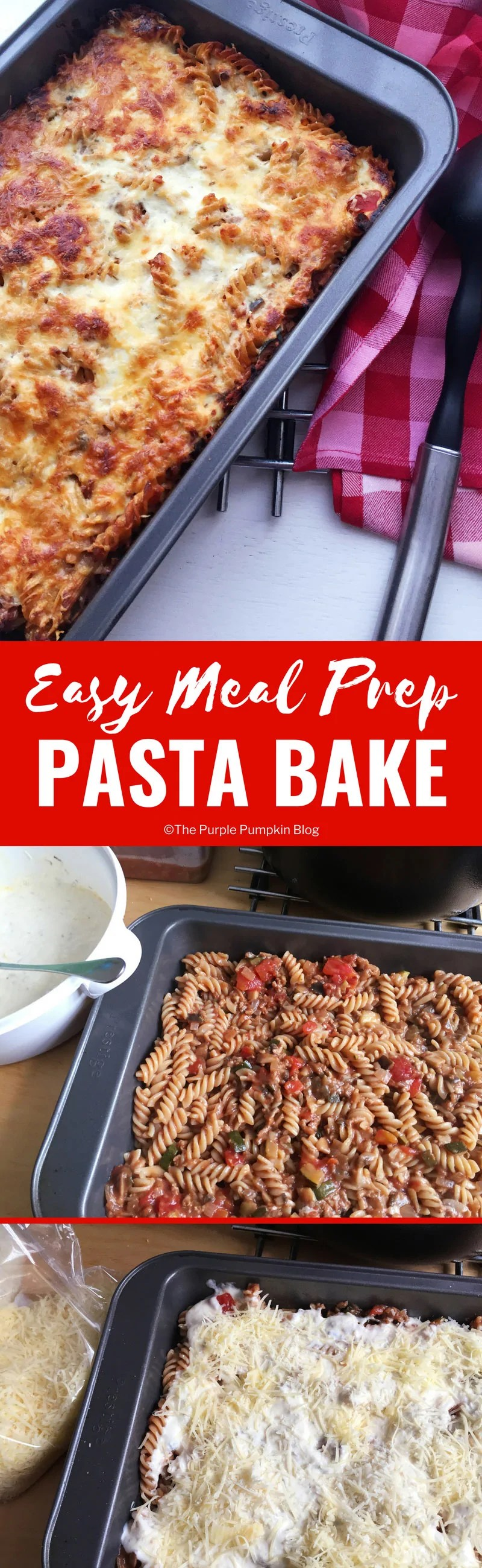 Meal prepping is awesome - you can save so much time, not to mention money by planning and prepping your meals in advance. Thismeal prep pasta bake is easy to make and can be kept in the fridge for 3-4 days, or frozen to use at a later time.