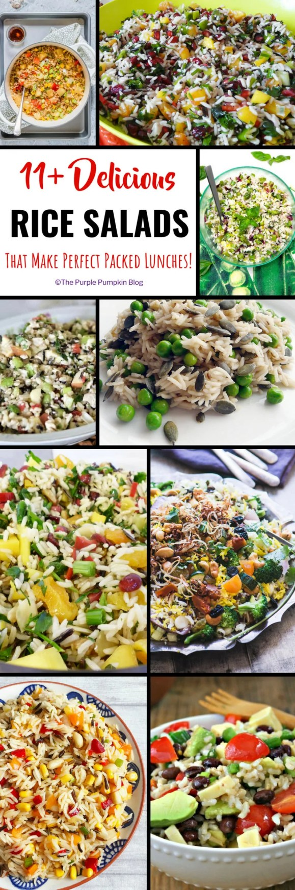Do you find yourself having the same food for lunch, day in, day out? Stuck for ideas of what to prepare for packed lunches for work? You've hit the right spot on the internet because here are 11+ delicious rice salads that can be kept in a packed lunch box or mason jar to take on the go.