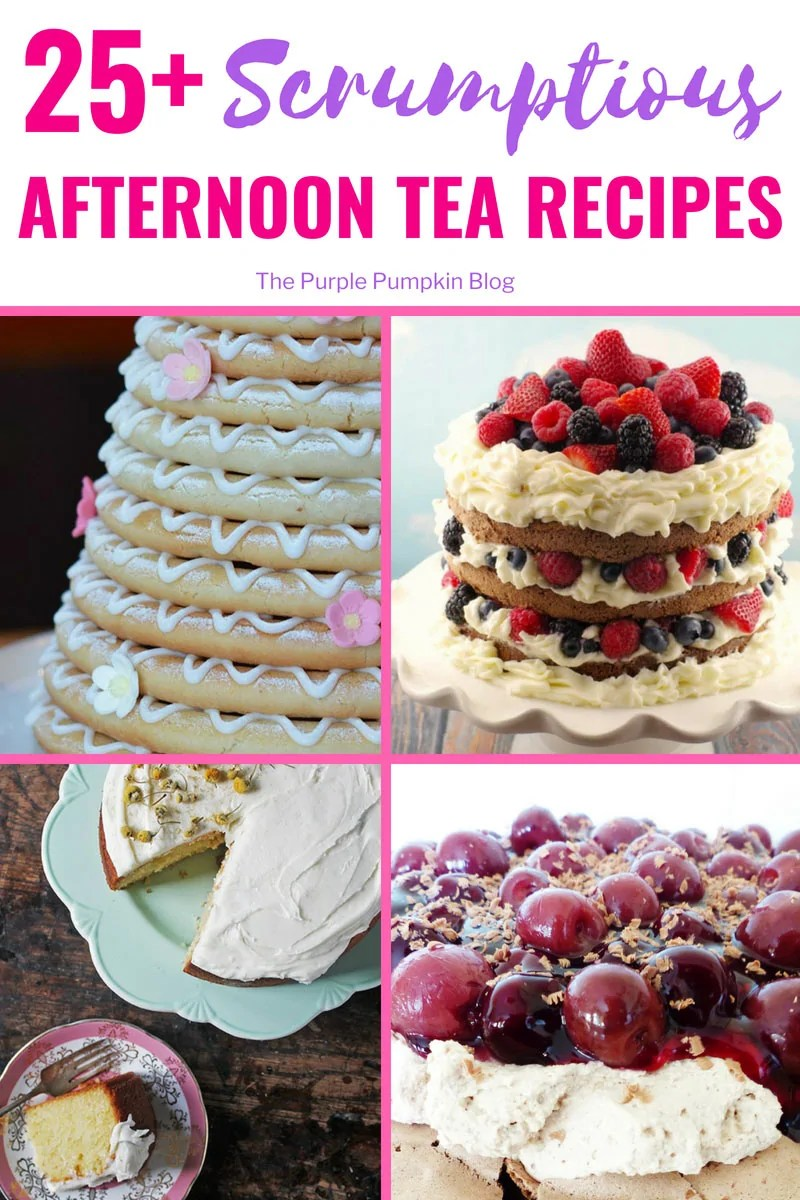 25+ Scrumptious Afternoon Tea Recipes... What is there not to love about #AfternoonTea? ainty finger sandwiches, scrumptious cakes, crumbly biscuits, and scones with lashings of clotted cream and jam? Not forgetting a hot pot of tea, or a glass of fizz if you're feeling fancy! You'll find so many delicious #AfternoonTeaRecipes on this blog!