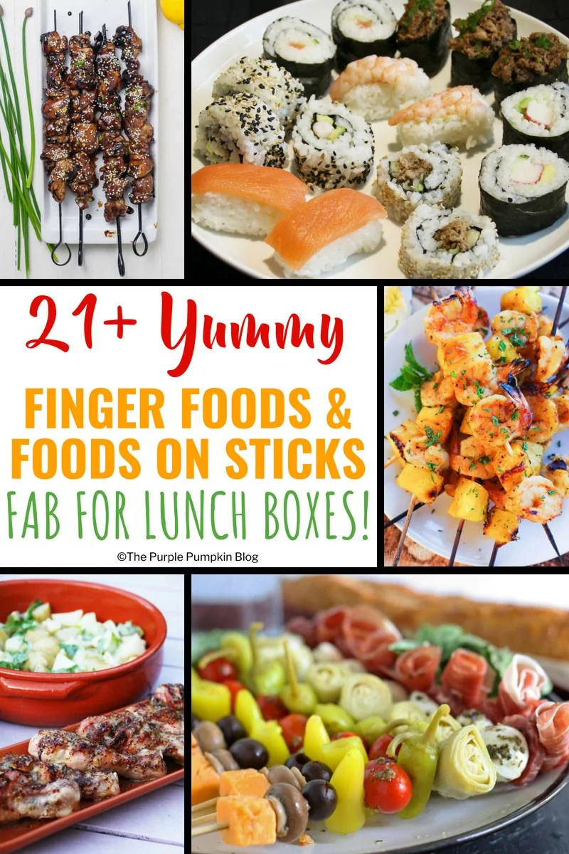 Do you find yourself having the same food for lunch, day in, day out? Stuck for ideas of what to prepare for packed lunches for work/college/school? You've hit the right spot on the internet because here are 21+ yummy finger foods and food on sticks that are fab and fun for lunch boxes!