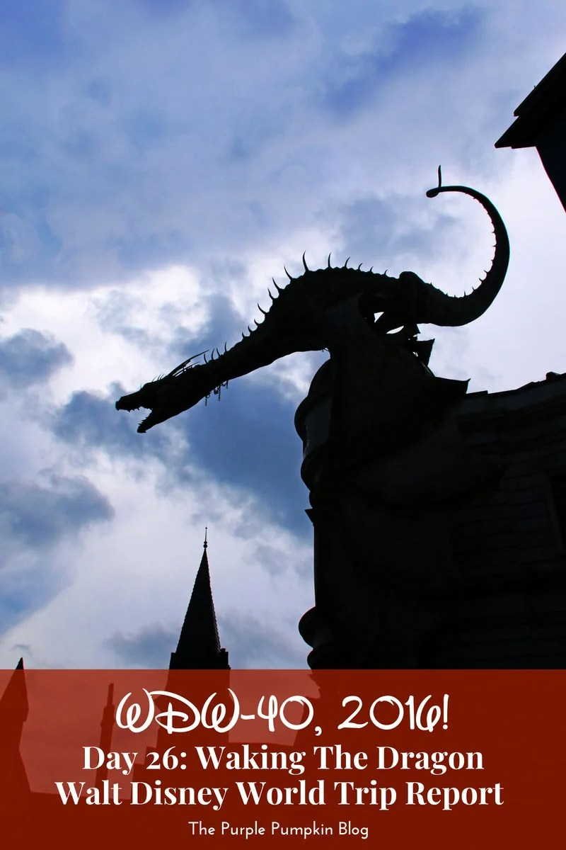 A day at Islands of Adventure, including the Wizarding World of Harry Potter - Diagon Alley, Hogsmeade, and the Hogwarts Express. Plus the Tree of Life Nighttime Awakenings at Disney's Animal Kingdom Theme Park / Day 26: Waking The Dragon - WDW-40, 2016 Trip Report