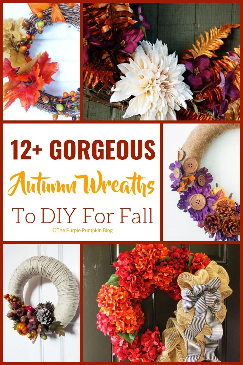 12+ Gorgeous Autumn Wreaths To DIY For Fall. A variety of pretty and different style wreaths for you to do it yourself at home. A wreath is always a beautiful decoration to welcome people into your home.