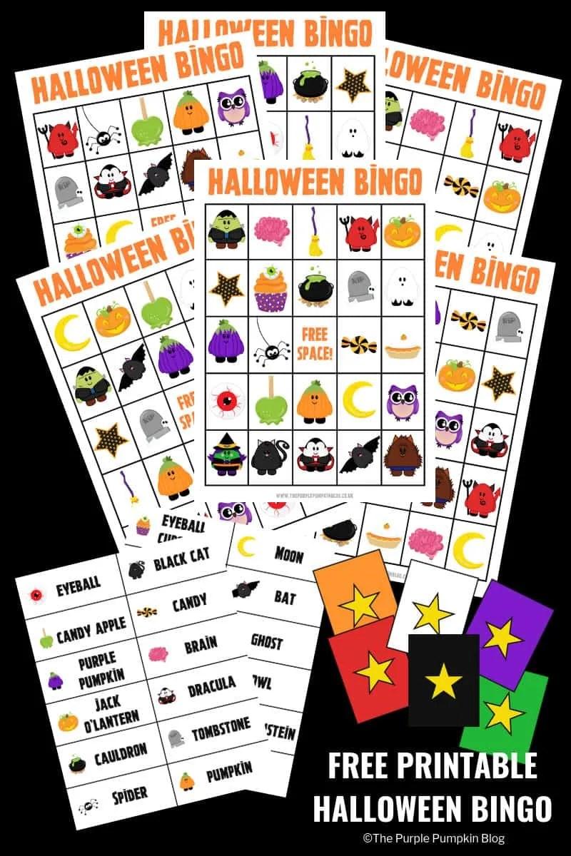 photo regarding Halloween Bingo Free Printable named Pleasurable Totally free Printable Halloween Bingo Sport!