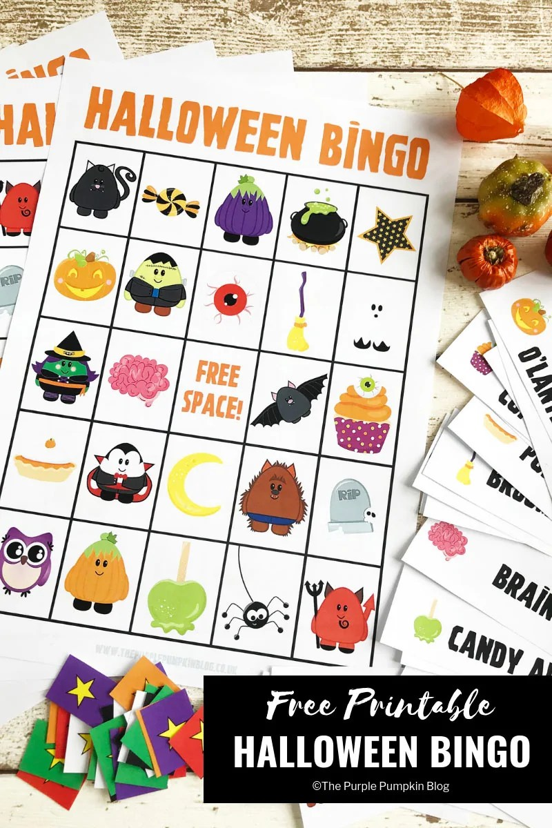 picture relating to Printable Halloween Bingo titled Entertaining Absolutely free Printable Halloween Bingo Sport!
