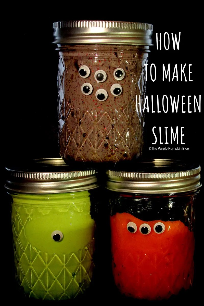 How To Make Halloween Slime! This ooey-gooey Halloween Slime is easy to make a fun to play with! Most of the ingredients can be found at home - Adult supervision required for kids.