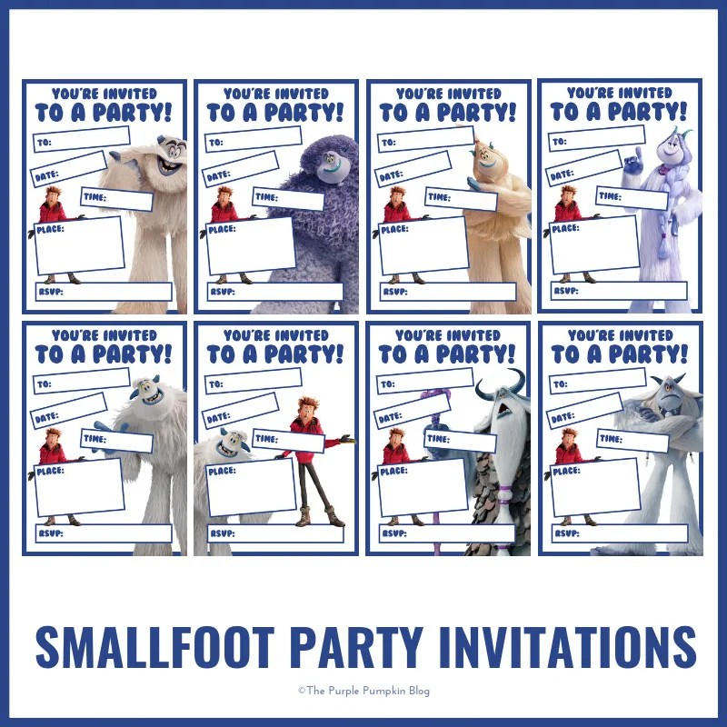Smallfoot Party Invitations