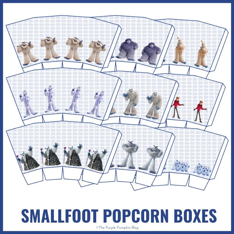 Smallfoot Popcorn Boxes