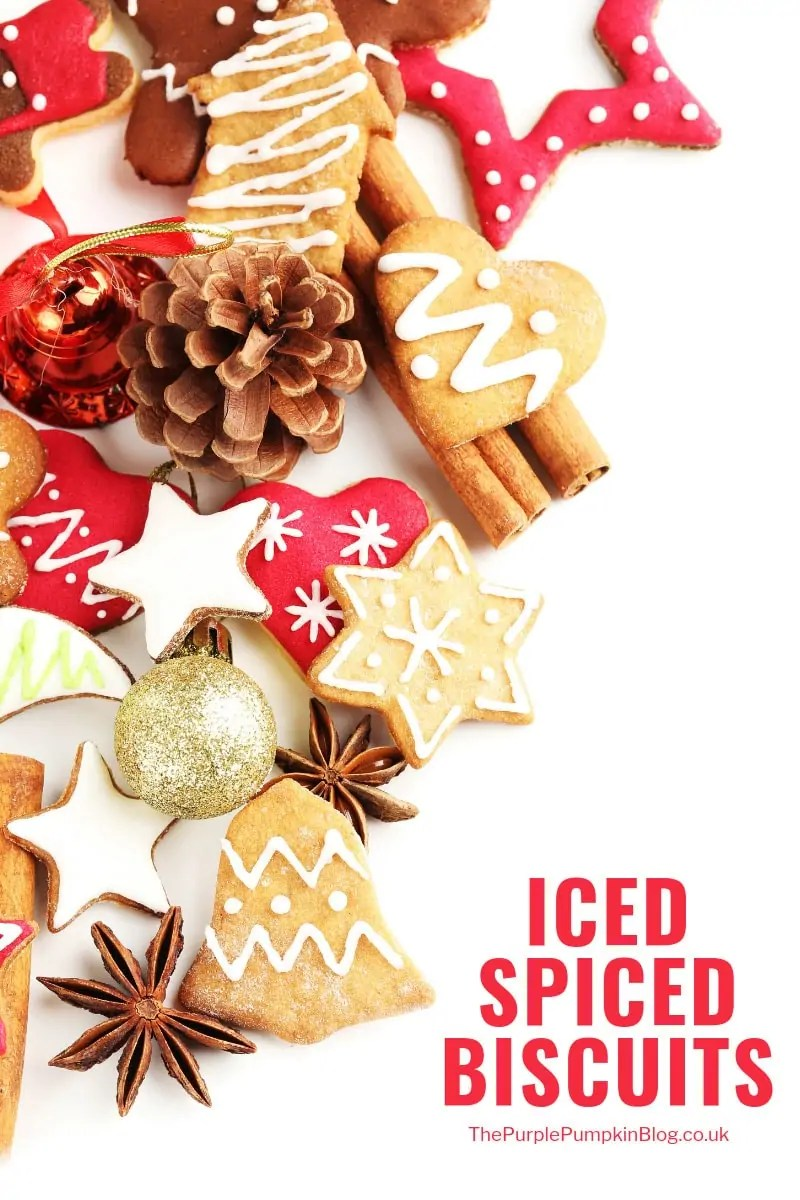 These Iced Spice Biscuits are simple to make and taste delicious. They're perfect for Christmas baking, and make a lovely homemade gift too!
