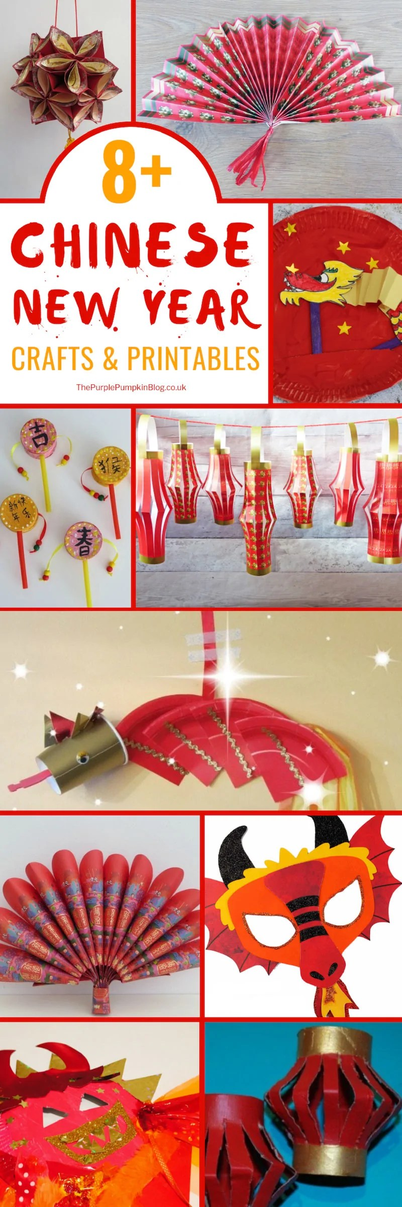 An awesome selection of Chinese New Year Crafts & Printables for kids and adults.