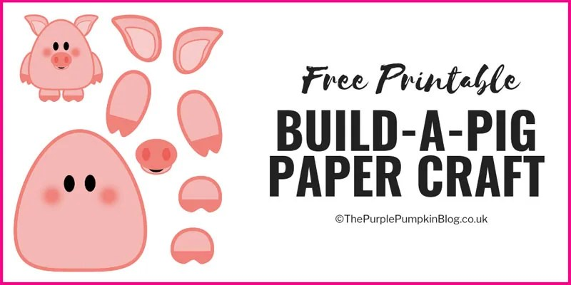 picture regarding Printable Pig named Free of charge Printable Produce-A-Pig / Printable Animal Sequence