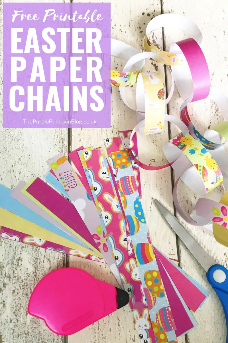 graphic regarding Printable Decorations known as Free of charge Printable Easter Decorations: Paper Chains