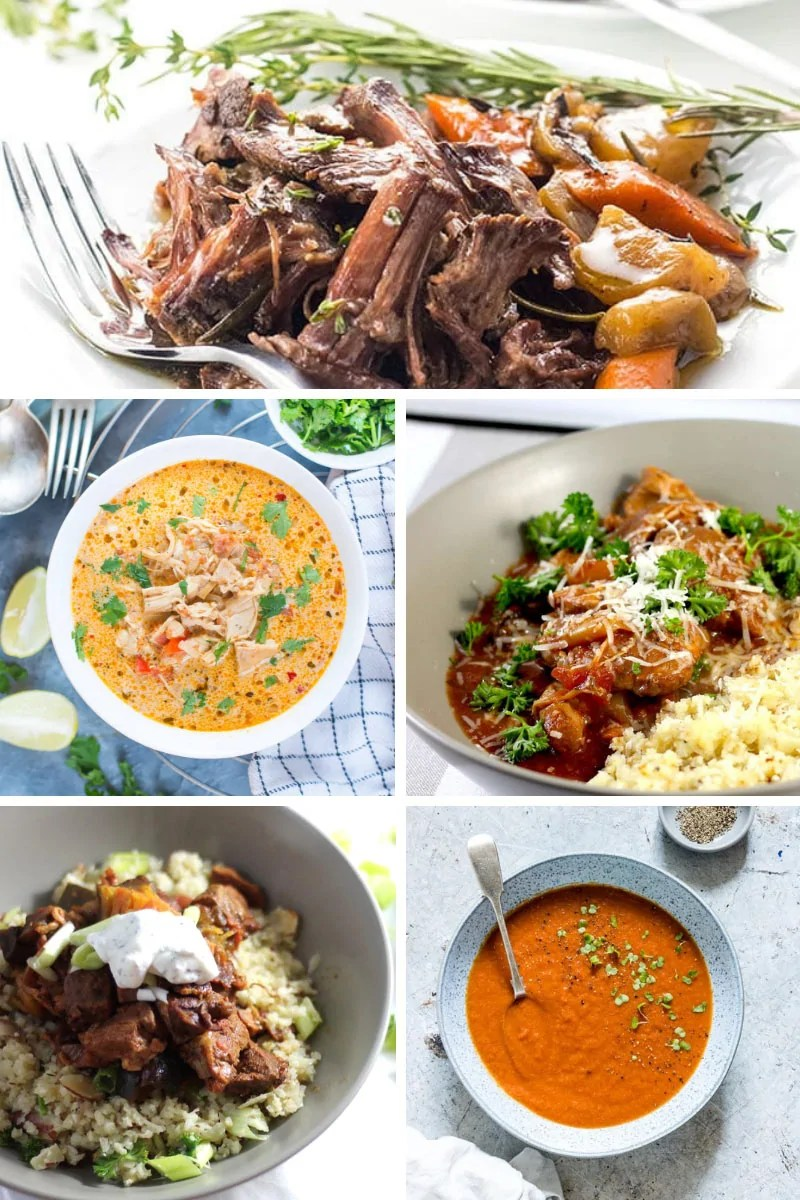 Take the stress out of dinner time with one of these slow cooker keto dinner recipes. Just dump all the ingredients into a slow cooker/crock pot and go about your day, knowing that a delicious low carb, keto dinner is waiting for you! #Keto #KetoDinnerRecipes #KetoSlowCookerRecipes #LowCarbRecipes