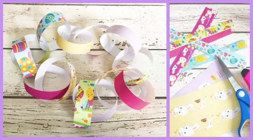 Paper Chains - Free Printable Easter Decorations