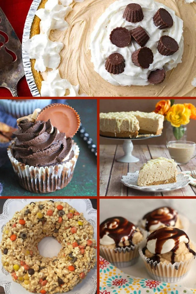 Do you love peanut butter? Do you love cake? Well, you're going to love this selection of yummy Peanut Butter Cakes & Pies! This roundup of peanut butter recipes include peanut butter cakes that are dairy-free, egg-free, gluten-free, and low-carb! There are no-bake cakes, cheesecake, and peanut butter pie recipes, as well as baked goods. Peanut butter lovers need to pin this now! #PeanutButterCakes #PeanutButterRecipes #PeanutButterPies #ThePurplePumpkinBlog