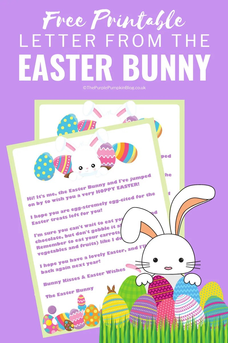 picture relating to Easter Bunny Printable identify Letter Towards The Easter Bunny! Free of charge Printable