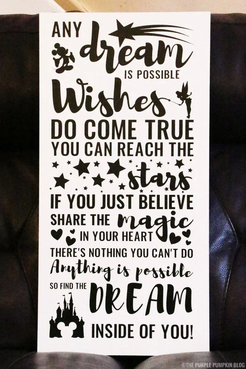 Disney Quotes Wall Hanging