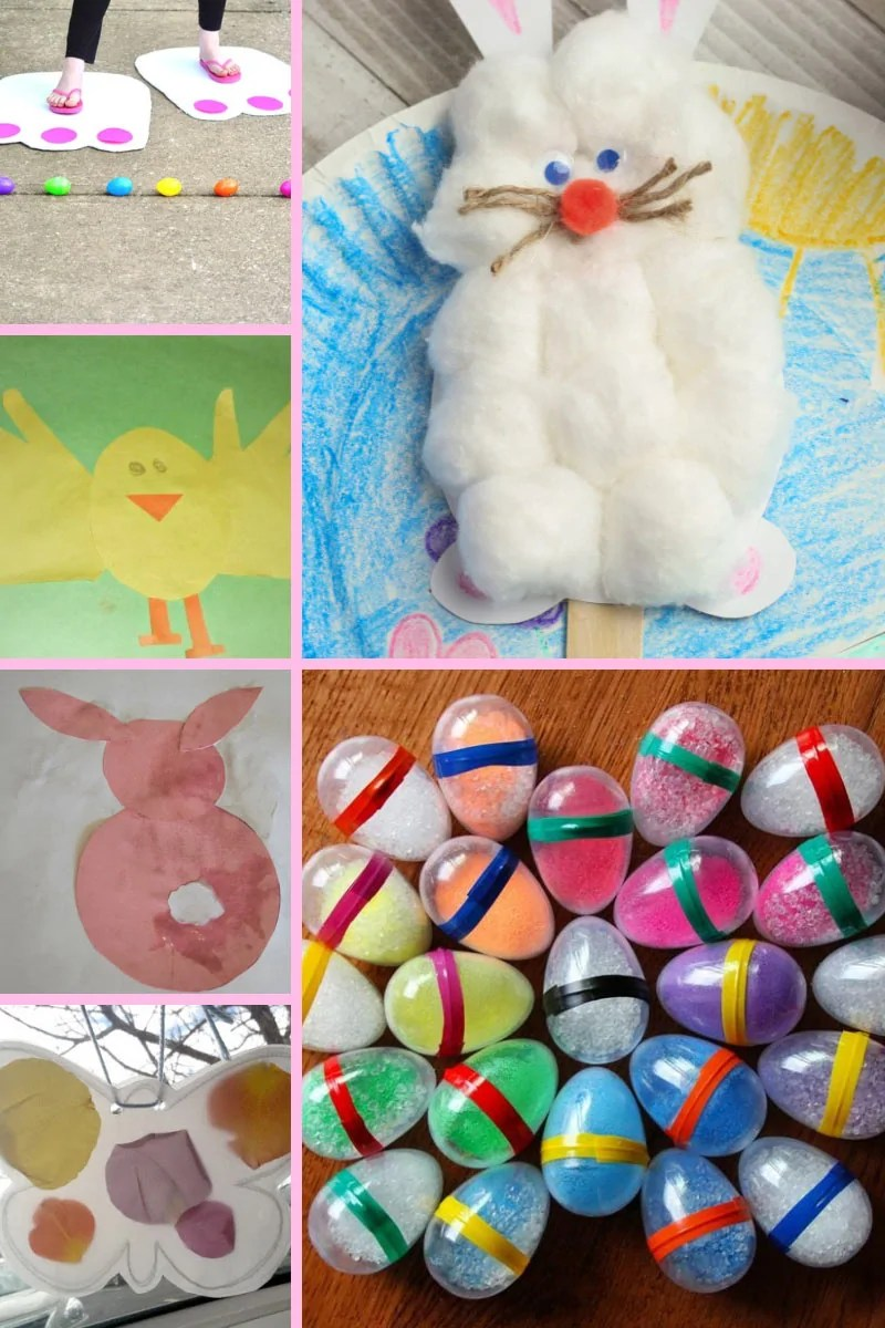 A fun selection of Easter crafts and activities for kids of all ages, including toddlers and pre-schoolers.