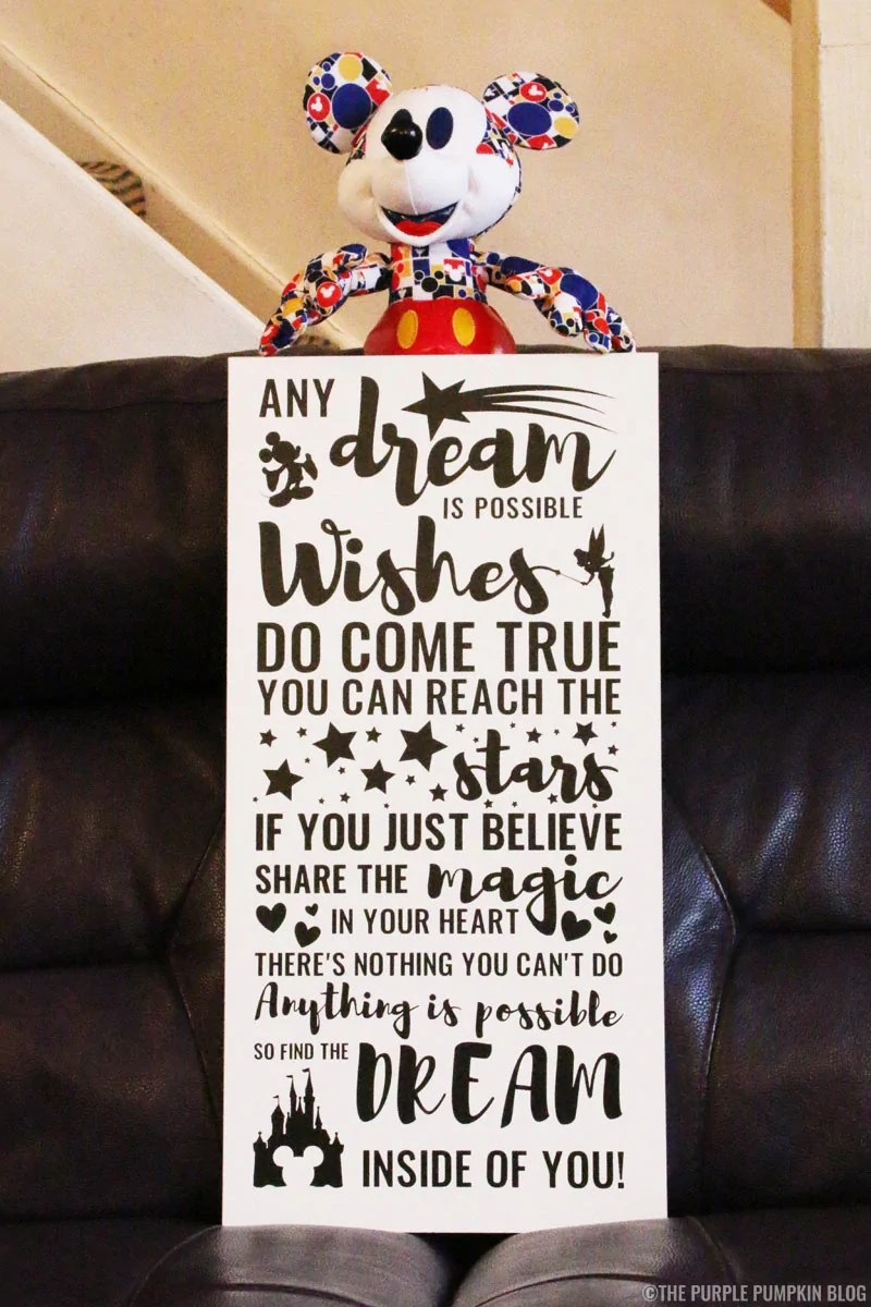 How to make a Disney Quote Sign with vinyl on a wooden board