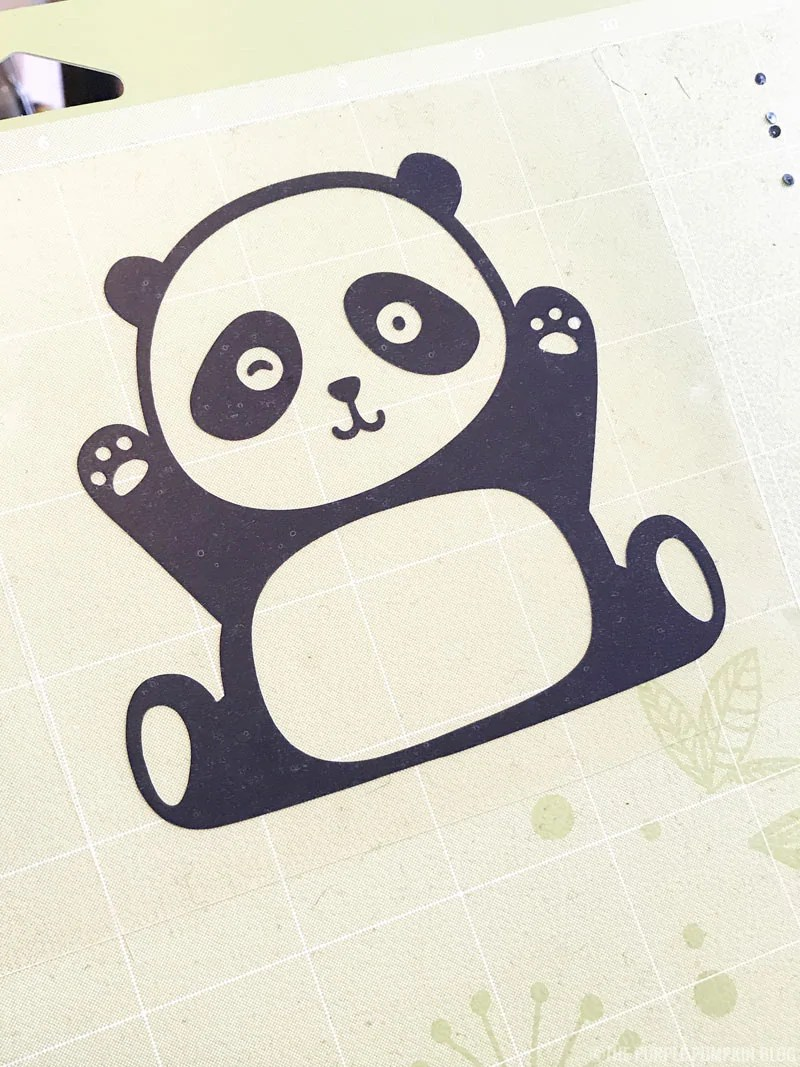 Iron-On Panda fully weeded
