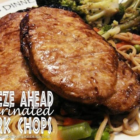 Freeze Ahead Marinated Pork Chops