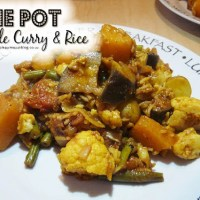 One Pot Vegetable Curry & Rice